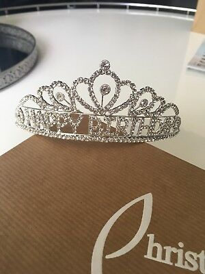 Happy Birthday Rhinestone Crown Tiara