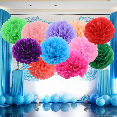 Tissue Paper Pom Poms  Wedding Party Baby Living Room decorations 20cm