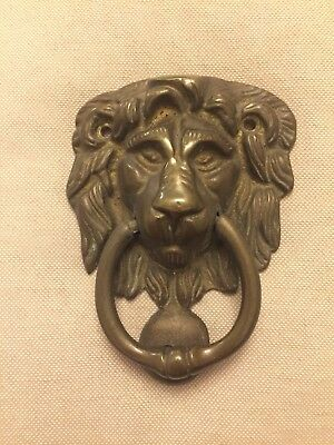 Vintage Brass Lion Door Knocker