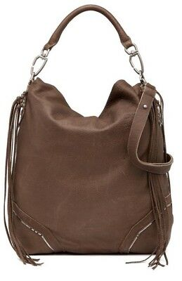 067d1e5cdef5 LIEBESKIND BERLIN Tokio Fringe Leather Shoulder Bag Purse Brown New NWT  398