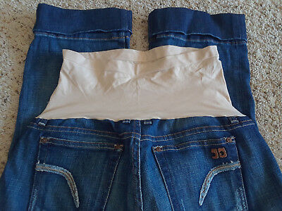 Joes Jeans Maternity Sz 32 Pea In The Pod Large Cuff Capri Cropped Socialite