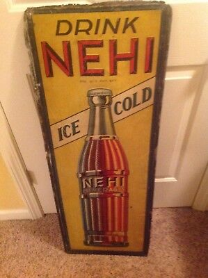 "Vintage Nehi Soda Sign 15"" x 42"""