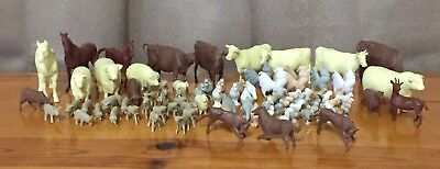Huge Vintage Marx Farm Playset Animal lot 101 Pieces Chickens Goats Horses + ++