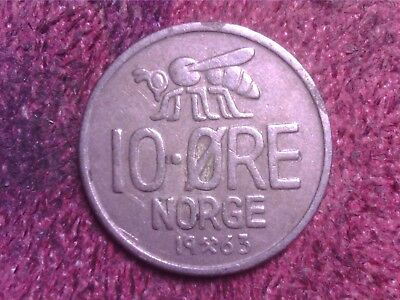 Norway  10   Ore   1963   Free  Shipping