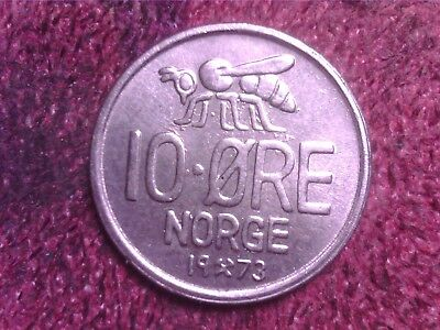 Norway  10   Ore   1973   Free  Shipping