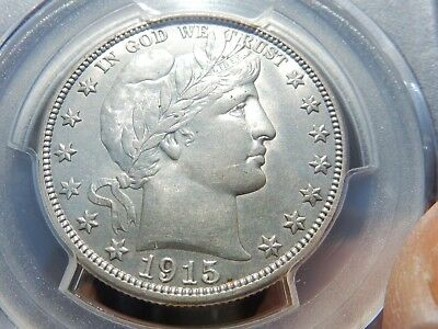1915-d Barber half dollar PCGS uncirculated detail FREE shipping, NEVER tax!!