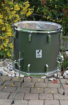 "Sonor Phonic 18""x16"" FloorTom T738 MP (Metalic Pewter) im TOP Zustand - Vintage"