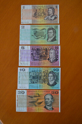 Commonwealth of Australia Phillips Wheeler decimal note set