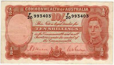 RARE!! 1939 Sheehan & McFarlane 10 Shillings - VF