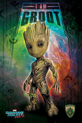 (Laminated) Guardians Of The Galaxy Groot Space Poster (61X91Cm) New Print Art