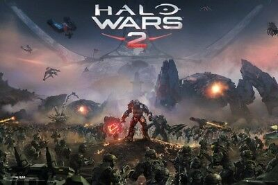 (LAMINATED) Halo Wars 2 Key Art POSTER (61x91cm) New Print Art