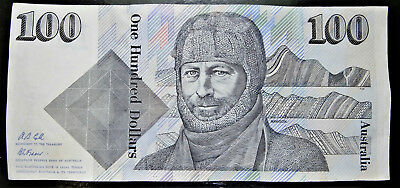 Australian $100 Banknote Vintage One Hundred Dollar Cole Fraser Zjy Prefix