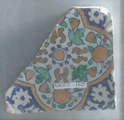 Antique Dutch Delft Tile Around 1625