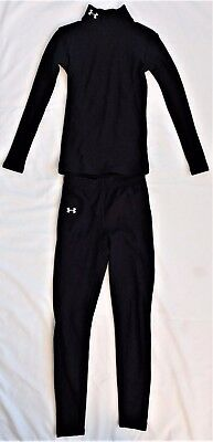 Under Armour Performance Apparel Set, Black, Athletic Wear, Youth Small