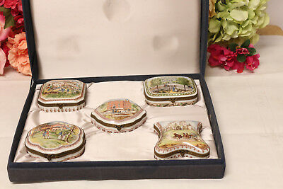 Fine French Porcelain Boxes (5) National Trust Historic Preservation