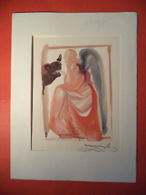 Salvador Dali, Divine Comed,y Rare German Hand Signed Litho (11) only 200 euros