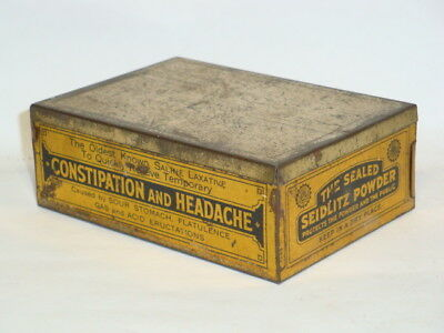 Nice Old Litho USP Seidlitz Powder Advertising Pharmaceutical Medicine Tin Can