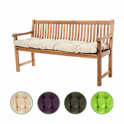 Outdoor Garden 2 or 3 Seater Tufted Bench Cushion Waterproof Pad Replacement
