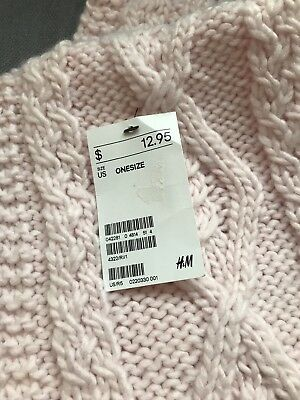 H&M Big Girl Scarf, Light Pink, One Size, NWT