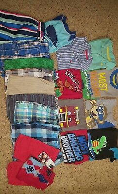 TODDLER BOY LOT OF 20 MIX 'n MATCH OUTFITS+ SIZES 3/3T SPRING/SUMMER