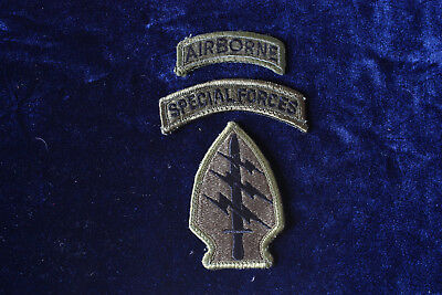 U.S. Army Special Forces Patch mit Tab AIRBORNE und Tab SPECIAL FORCES Green