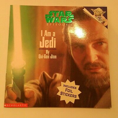 """STAR WARS Episode 1 - """"I am a Jedi"""" by Qui-Gon - picture book with stickers NEW!"""