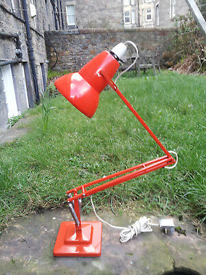Vintage Herbert Terry  Orange 1227 Anglepoise lamp