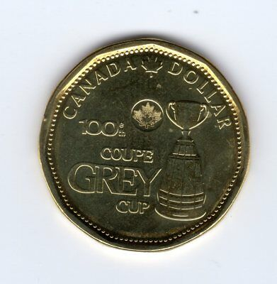 BU directly from mint roll CANADA 2012 New 1$ LOONIE 100th Grey Cup