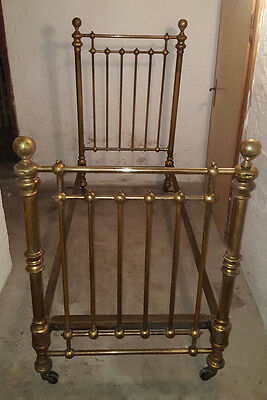 Antikes / altes metall messing- Bett; Messingbett Jugenstil- Brass bed Art Nouv
