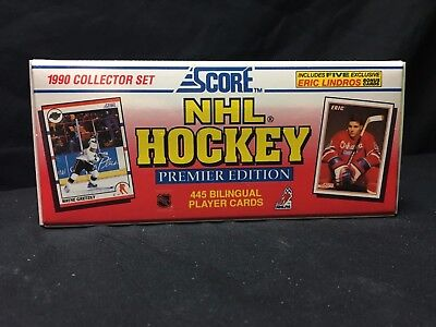 1990-91 Score NHL Hockey Premier Factory Sealed BILINGUAL Set 445 Player Cards