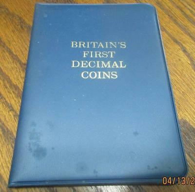 Great Britian's First Decimal Coins. 5 Coins Uncirculated Set.           #TF-628