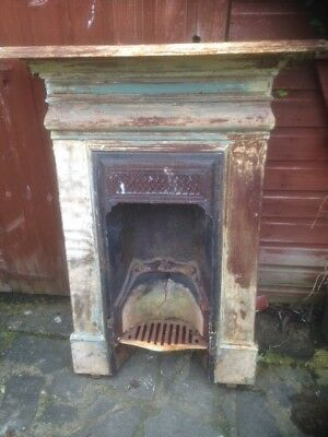 Antique Victorian Cast Iron Bedroom Fireplace