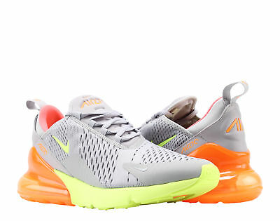 Nike Air Max 270 Grey/Volt-Orange-Hot Punch Men's Lifestyle Shoes AH8050-012