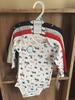 ae8fcc90e CARTERS BABY BOYS 4 Pack Long Sleeve Original Bodysuits 6 Months ...