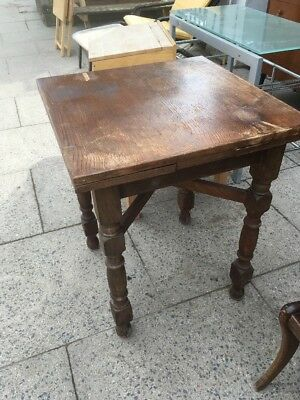 Small Antique Drawleaf Table