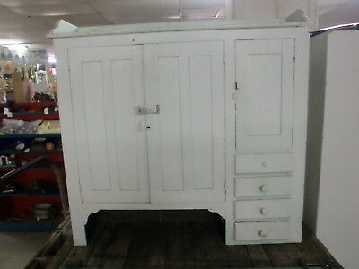 Painted Primitive Cupboard Cabinet