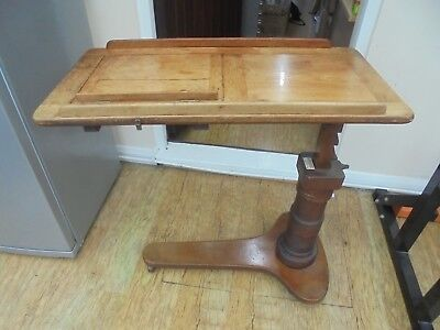 Early Victorian Mahogany Adjustable Lecturn, Reading Table. Leverson & Sons.