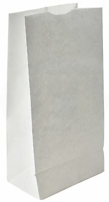Paper Grocery Lunch Bag, Kraft Paper, 8 lb Capacity, (100 Count) (White)