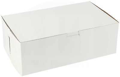 """10"""" x 6"""" x 3 1/2"""" Paperboard White  Bakery Box by MT Products (Pack of 15)"""