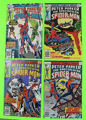 Peter Parker, The Spectacular Spider-Man Vol 1 1970's LOT #5 #6 #7 #8 Morbius