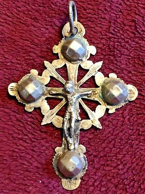 Early 19Th Century German Nuns Silver Crucifix Pendant Rare #1 Of 6