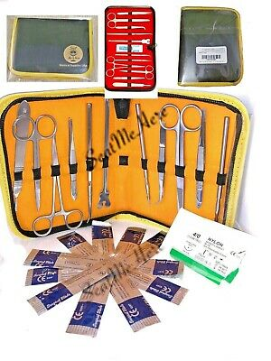 medical suture and dissection kit - 23 piece - precision craftsmanship