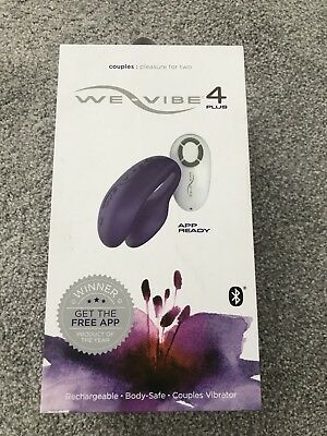 We-Vibe 4 Plus Smartphone Controlled Remote Purple Massager Sealed Bnib