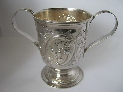 Sterling Silver 2 Handled Loving Cup Made in Newcastle by John Langlands &