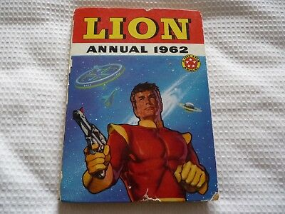 Lion Annual 1962. Vintage Children's Annual. Not Clipped. Damaged spine etc