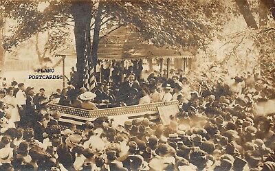 """Unidentified Early 1900'S Political Rally"" Rppc Real Photo Postcard"