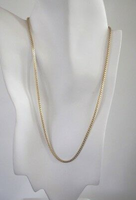 14Ktgold By The Inch 2.5 Mm Box Chain Necklace,bracelet,14Kt Gold Clad Bonded