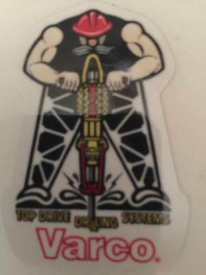 Varco Top Drive Drilling Systems Decal Oilfield Gas Well Ruffneck Nov Wilson Usa