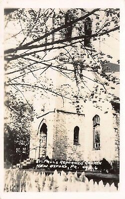 "New Oxford, Pennsylvania ""'St. Paul's Reformed Church"" Rppc Real Photo Postcard"