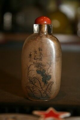 Antique Asian China Reverse Painted Snuff Bottle